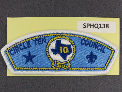 Circle Ten Texas CSP White Border - Scout Patch HQ