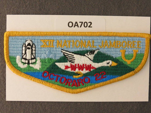 OA Lodge # 22 Octoraro Yellow Border Chester County   Flap [OA702]**