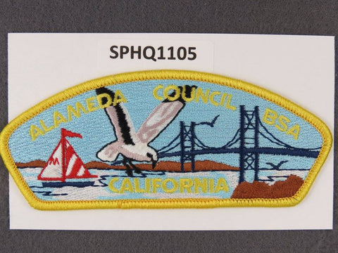 Alameda Council California CSP Yellow Border - Scout Patch HQ