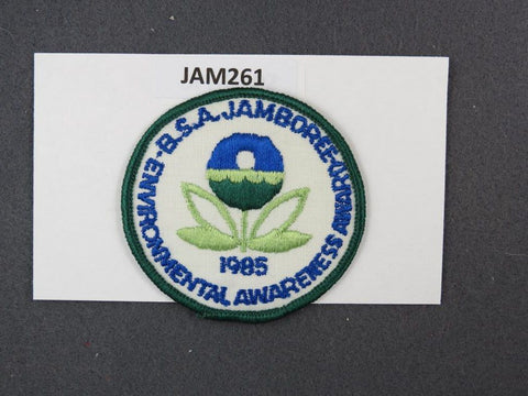 1985 National Scout Jamboree Enviornmenal Awareness Award Green Border [JAM261]^^