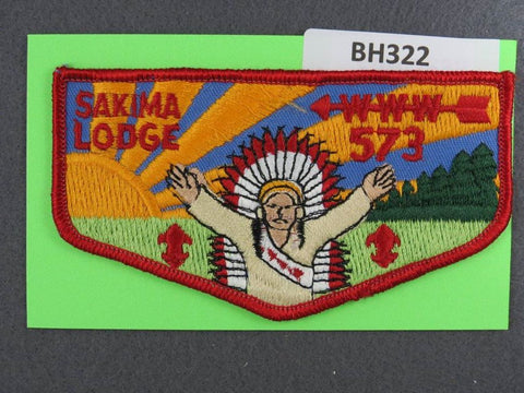 OA Lodge # 573 Sakima Flap Red Border LaSalle  [BH322]**