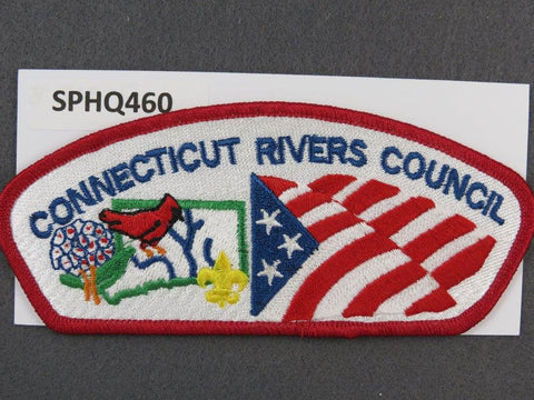 Connecticut Rivers Council CSP Red Border - Scout Patch HQ