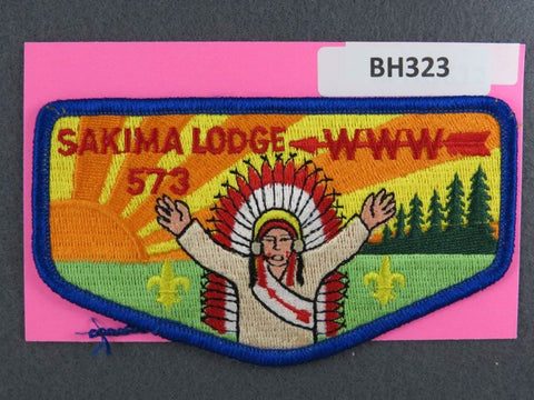 OA Lodge # 573 Sakima Flap Blue Border LaSalle  [BH323]**