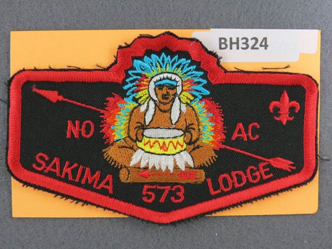 OA Lodge # 573 Sakima Flap NC Red Border LaSalle  [BH324]**