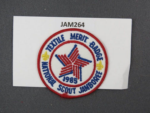 1985 National Scout Jamboree Textile Merit Badge Red Border [JAM264]^^