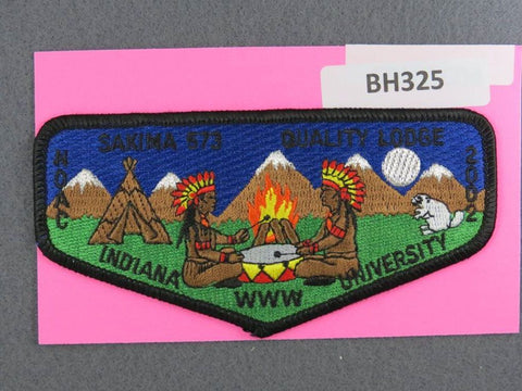 OA Lodge # 573 Sakima Flap 2002 NC Black Border LaSalle  [BH325]**