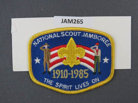 1985 National Scout Jamboree The Spirit Lives On Yellow Border
