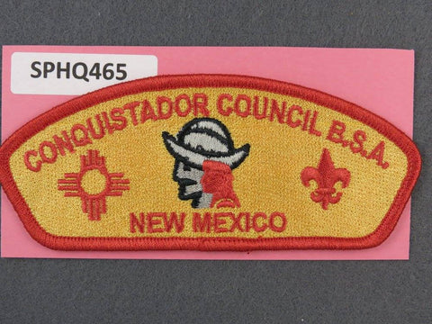 Conquistador Council New Mexico CSP Red Border - Scout Patch HQ
