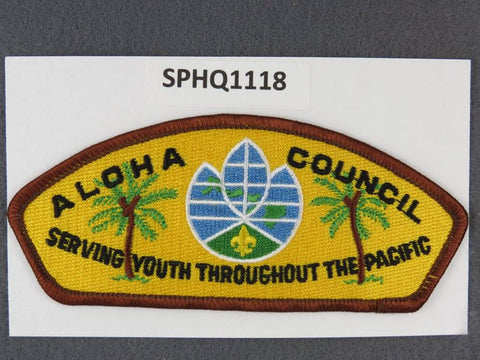 Aloha Council Hawaii CSP Brown Border - Scout Patch HQ