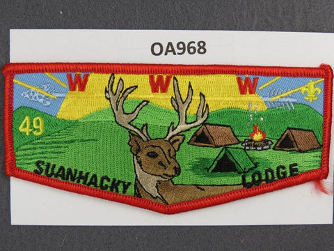 OA Lodge # 49 Suanhacky Red Border Greater New York, Queens   Flap [OA968]**