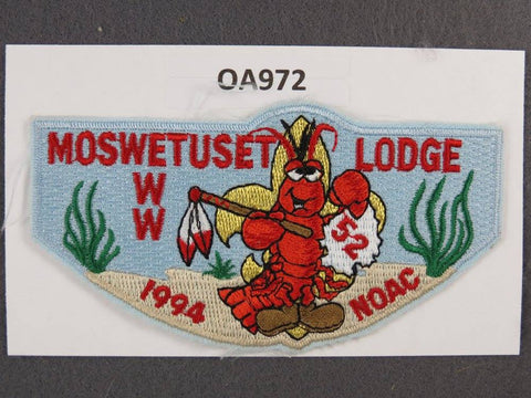 OA Lodge # 52 Moswetuset Blue Border Boston Minuteman   Flap [OA972]**