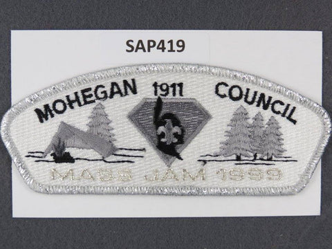 Mohegan  Massachusetts CSP 1999 Mass Jam Silver Mylar Border [SAP419]>>