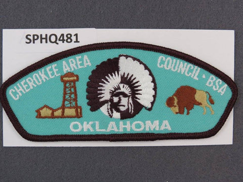 Cherokee Area Council Oklahoma CSP Brown Border - Scout Patch HQ