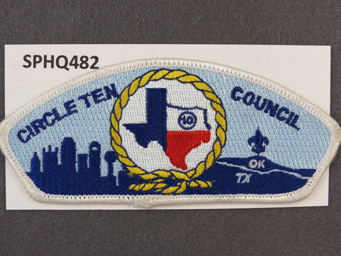 Circle Ten Council Texas Oklahoma CSP White Border - Scout Patch HQ