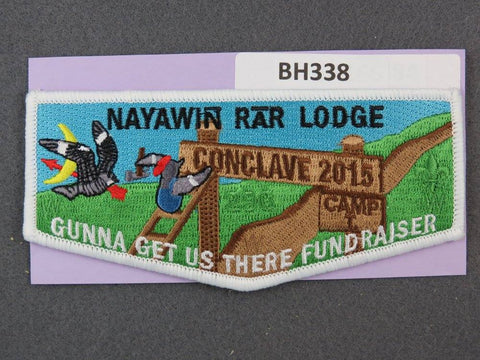 OA Lodge # 296 Nayawin Rar Flap 2015 Conclave White Border Tuscarora Council