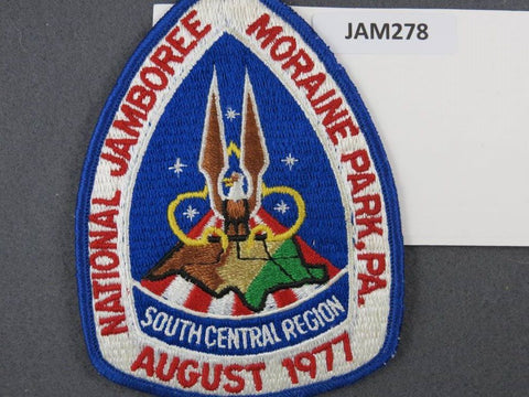 1977 National Scout Jamboree South Central Region Blue Border [JAM278]^^