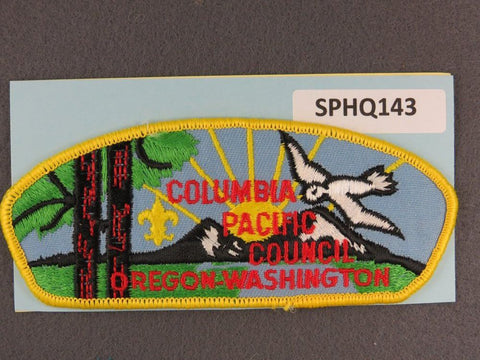 Columbia Pacific Council Oregon Washington CSP Yellow Border - Scout Patch HQ