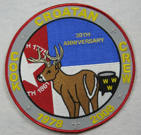 OA Lodge 117 Croatan J7 Cook Crew 30th Anniversary; RED border [FL1040]