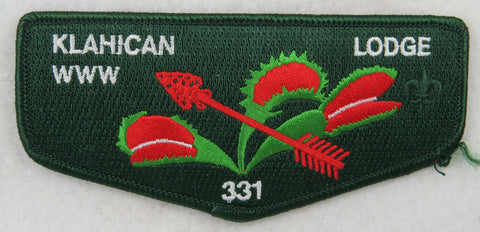 OA Lodge 331 Klahican S60 Flap ORD; GRN border, three leaves, 2006 [D1506]