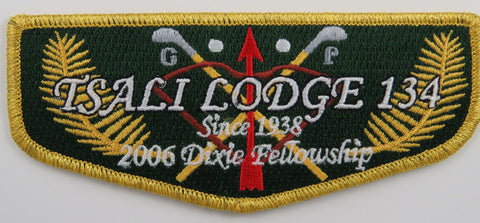 OA Lodge 134 Tsali S55 Flap 2006 Dixie Fellowship  [R232]