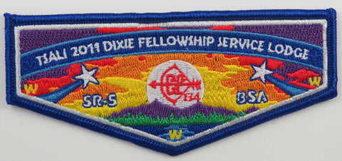 OA Lodge 134 Tsali S75 Flap 2011 Dixie Fellowship Service Lodge; BLU borde[R240]