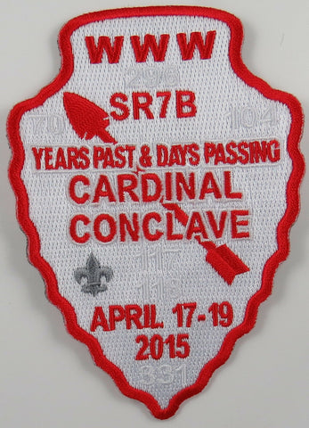 2015 Cardinal Conclave Red Border Patch preorder issue [T121]