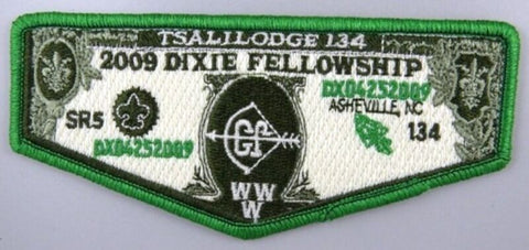 OA Lodge 134 Tsali S64 Flap 2009 Dixie Fellowship SR-5 FLAP GRN [A10079]