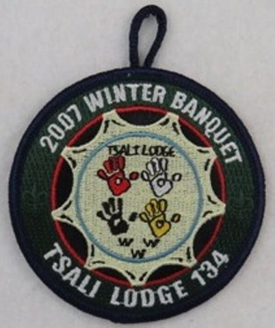 OA Lodge 134 Tsali eR2007-1 2007 Winter Banquet Blue Border [W10078]