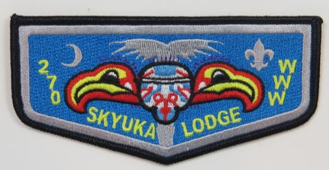 OA Lodge 270 Skyuka S15c Flap; Blk almost completely fills eyes [D1840]