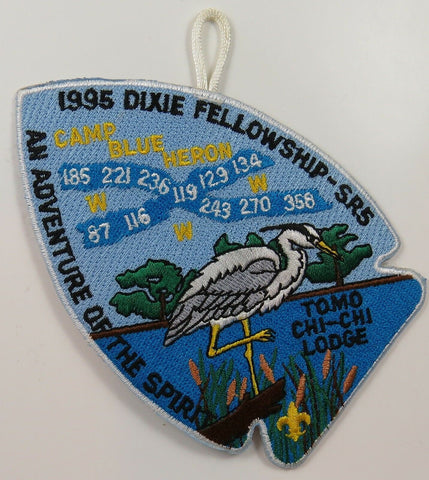 1995 Dixie Fellowshp Patch Tomo Chi-Chi 119 Host [P260]