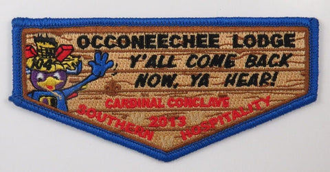 OA Lodge 104 Occoneechee 2013 Cardinal Conclave Flap [T286]