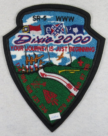 2000 Dixie Fellowship Chenille Patch Tsali 134 Host [FL2269]