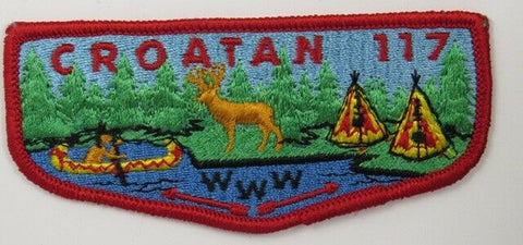 OA 117 Croatan WWW S1 Flap RED Bdr. East Carolina NC [C-1829]