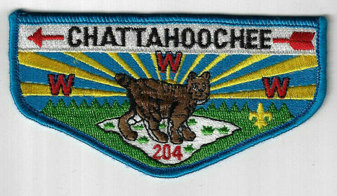 OA 204 Chattahoochee S49a Flap Blue Border Columbus, GA [CD1186]