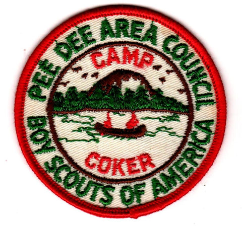 1960-1961 Camp Coker Brown and Green with Orange Border [CC387]