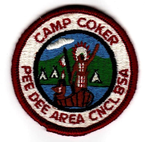 1969-1970 Camp Coker Standing Indian With Black Inner Border [CC389]
