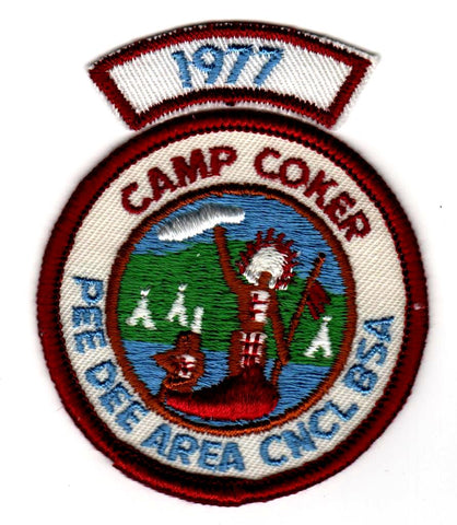 1977 Camp Coker Standing Indian With Segment [CC397]