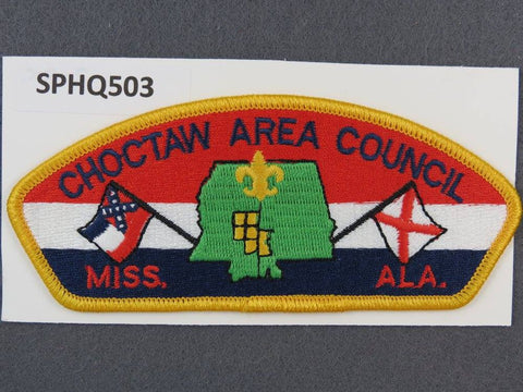 Choctaw Area Council Mississippi Alabama CSP Yellow Border - Scout Patch HQ