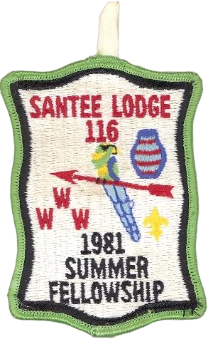 #116 Santee Lodge 1981 Summer Fellowship