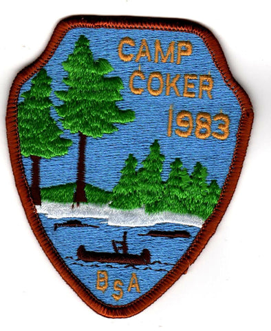 1983 Camp Coker Camper Brown Border [CC406]