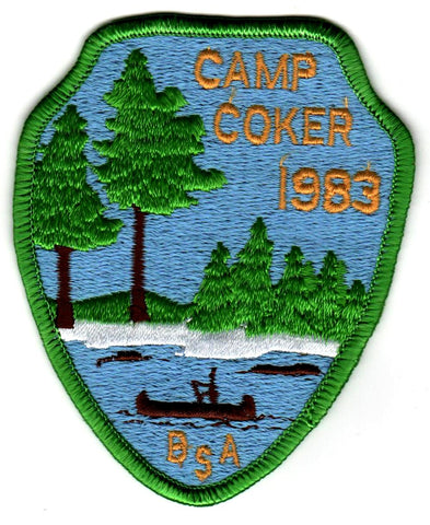 1983 Camp Coker Scoutmaster Green Border [CC409]