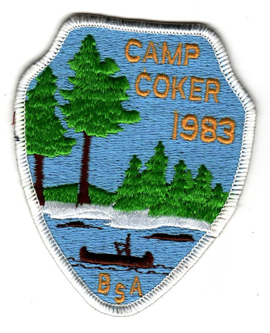 1983 Camp Coker Staff White Border [CC408]