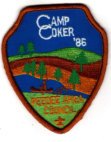 1986 Camp Coker Camper Brown Border Reorder Without Loop [CC416]