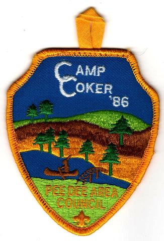 1986 Camp Coker Staff Yellow Border [CC417]
