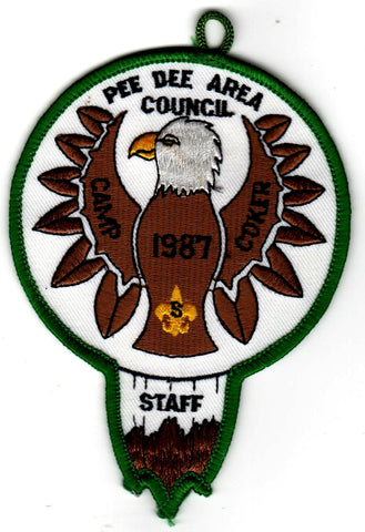 1987 Camp Coker Staff Green Border