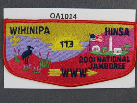 OA Lodge # 113 Wihinipa Hinsa Bay Area Council 2001 National Jamboree  Flap