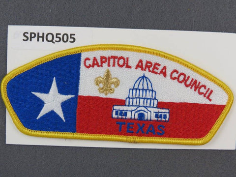 Capitol Area Council Texas CSP Gold Border