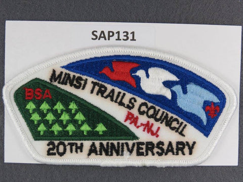 Minsi Trails Council Pennsylvania New Jersey CSP 20th Anniversary White Border