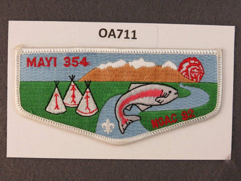 OA Lodge # 354 Mayi White Border Golden Empire   Flap [OA711]**