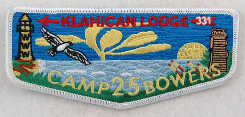 OA Lodge 331 Klahican S59 Flap Camp Bowers 25th Anniversary [D1505]